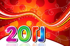 Abstract new year greeting. Vector illustration Stock Images