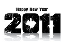 Abstract new year grunge text. Vector illustration Stock Image