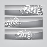Abstract New Year headers, banners Stock Images