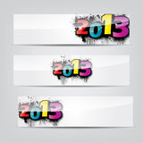 Abstract New Year headers, banners Royalty Free Stock Images