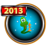Abstract new Year icon Royalty Free Stock Image