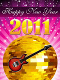 Abstract new year music concept. Vector illustration Royalty Free Stock Photography