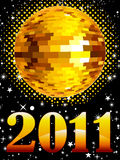 Abstract new year music concept. Vector illustration Royalty Free Stock Images