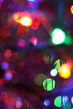 Abstract New Year's background. Beautiful multi-coloured specks of light.  Good background to Christmas and New year Stock Photo