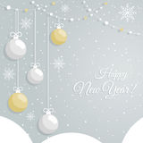 Abstract  New Year`s baubles Royalty Free Stock Images