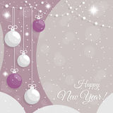 Abstract  New Year`s baubles Stock Images
