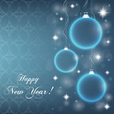 Abstract New Year`s baubles vector illustration