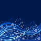 Abstract New Year's horizontal composition. Abstract New Year's blue horizontal composition Royalty Free Stock Image