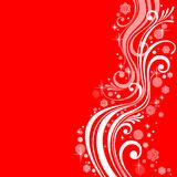 Abstract New Year's patterns on a red background. Abstract white patterns on a red background Royalty Free Stock Photo