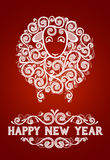 Abstract New Year's sheep. Abstract sheep 2015 new year symbol, on red background, EPS 10 contains transparency Royalty Free Illustration