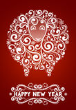 Abstract New Year's sheep. Abstract sheep 2015 new year symbol, on red background, EPS 10 contains transparency Vector Illustration