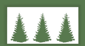 Abstract New Year's trees . Royalty Free Stock Images