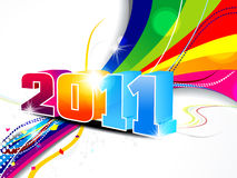 Abstract new year wave background. Vector illustration Royalty Free Stock Photography