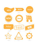 Abstract New yellow labels. Illustration of Abstract New yellow labels design Stock Images