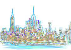 Abstract new york city Stock Images