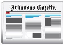 Abstract newspaper of Arkansas in the United States Royalty Free Stock Photos