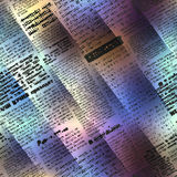 Abstract newspaper on blurred background Royalty Free Stock Photos