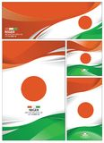 Abstract Niger Flag Background stock illustratie