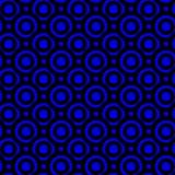 Night blue circles seamless texture. Abstract night blue circles and circular shapes dark background. Seamless texture pattern Stock Photo