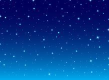 Abstract night blue sky with stars cosmos background. royalty free illustration