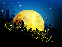 Abstract Night city background Royalty Free Stock Photography