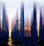 Abstract night city background Stock Images