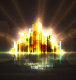 Abstract night city Royalty Free Stock Photography