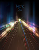 Abstract night city. Decorative background Royalty Free Stock Images