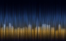 Abstract night city illustration with lines. Royalty Free Stock Images