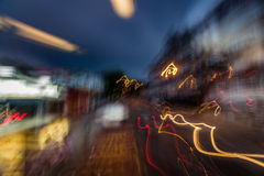 Abstract night city lights Royalty Free Stock Photography