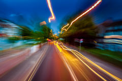 Abstract night city lights Royalty Free Stock Photos