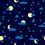 Abstract night clouds background. Seamless. Stock Image