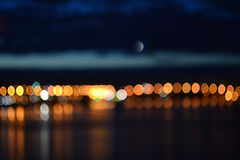 Abstract night defocused city lights background Royalty Free Stock Photos
