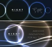 Abstract night party banner in glamour design style, modern flyer in A4 with colourful background Royalty Free Stock Photography