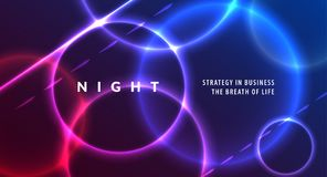 Abstract night party banner in glamour design style, modern flyer in A4 with colourful background Royalty Free Stock Images