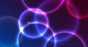 Abstract night party banner in glamour design style, modern flyer in A4 with colourful background Royalty Free Stock Photos
