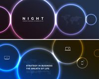 Abstract night party banner in glamour design style, modern flyer in A4 with colourful background Stock Photo