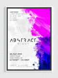 Abstract Night Party Flyer, Template or Banner design. Royalty Free Stock Photography