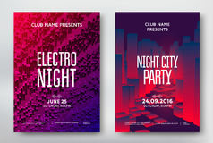Abstract night party posters Stock Photography