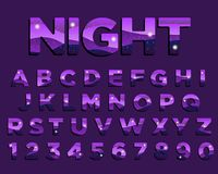 Abstract Night Purple Colorful Typography Design stock illustration