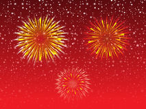 Abstract night sky explode firework. Vector illustration Royalty Free Stock Images