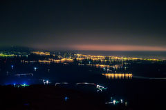 Abstract Night View. Abstract landscape of a night landscape royalty free stock image