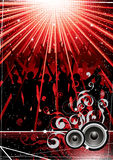 Abstract nightlife background Stock Image