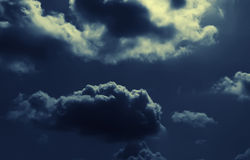 Abstract nightly clouds landscape Stock Photo
