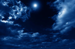 Abstract nightly clouds landscape Stock Image