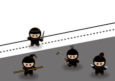 Abstract ninjas fighting Stock Photos