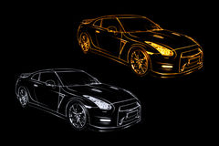 Abstract Nissan GT-R Royalty Free Stock Images