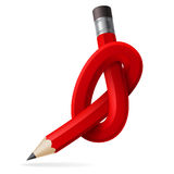 Abstract node of pencil Royalty Free Stock Photos