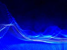 Abstract noise points blue grid. Futuristic science wave. Sound. Abstract 3d noise points grid. Futuristic science wave. Sound visualization Stock Photo