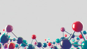 Abstract noisy medical and biology background. Abstract noisy and CA medical and bio-science background with molecular structure royalty free illustration